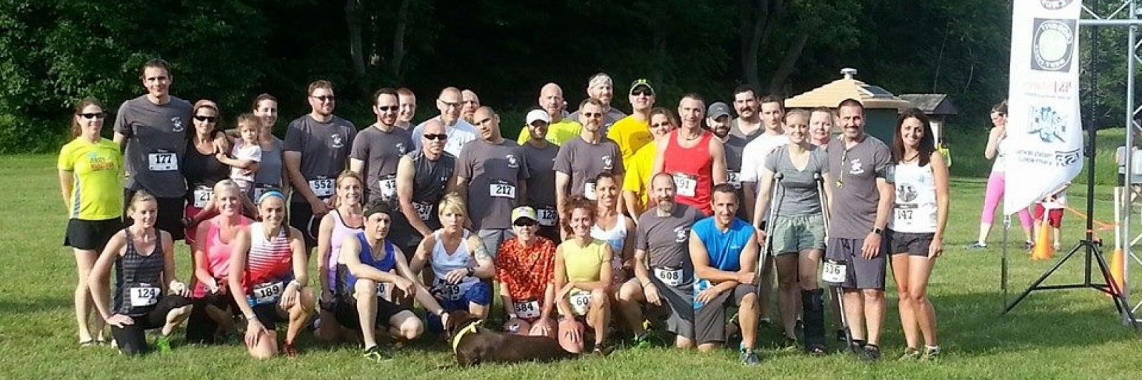 Salt Shaker group photo at summer solstice trail run at kitatinny state park
