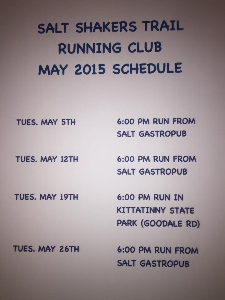 May 2015 schedule
